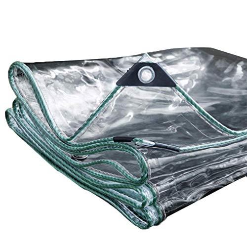 YSHCA Multipropósito Lona Impermeable, 11 mils Espesar Lonas Transparente Resistencia Al Desgarro Toldos De Invernadero De Planta,Transparent_4.8x4.8ft/1.6x1.6m