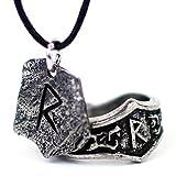 Asgard El estaño de Viking Rune Colgante y emparejando el anillo ajustable Runic...