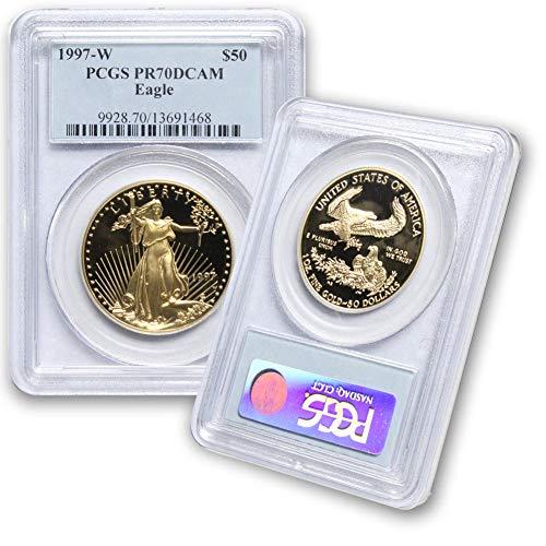 1997 W 1 oz American Gold Eagle $50 PR70DCAm PCGS