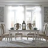 Liberty Furniture Industries Magnolia Manor 5 Piece Rectangular Table Set, W90 x D44 x H30, White