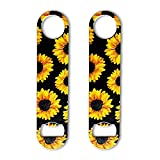 DXYI Yxyx 2 Pack Stainless Steel Flat Bottle Opener Beautiful Yellow Sunflowers Beer Openers for...