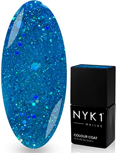 NYK1 NAILAC - DIAMOND MERMAID - Professional Shellac Gel Nail Polish - UV & LED Drying - Quick Soak Off Gel Polish 10ml - Over 100 Shellac Colours to Choose From! by NYK1