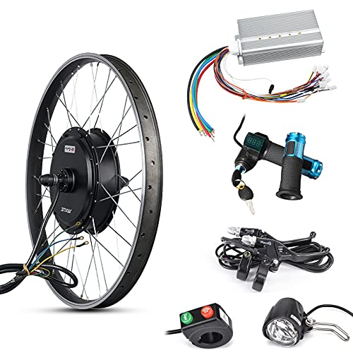 ebuysmart MXUS Electric Mortor Wheel 48-72V 3000W Ebike Conversion Kit Electric Bicycle Rear Hub Motor Controller LCD Throttle Ebike Kit 32-55KM