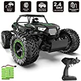 BEZGAR RC Car 1:14 Aluminium Alloy Large Size Kids High Speed Racing Vehicle Electric Hobby Truck with 2 Rechargeable Batteries for Boys Teens Adults