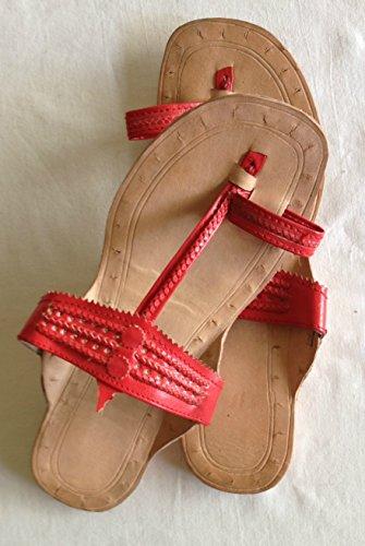 Red handmade sandals