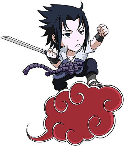T-Shirt Noir Naruto - Dragon Ball parodique Sasuke et Sangoku : Akatsu-kintôun : (Parodie Naruto - Dragon Ball)