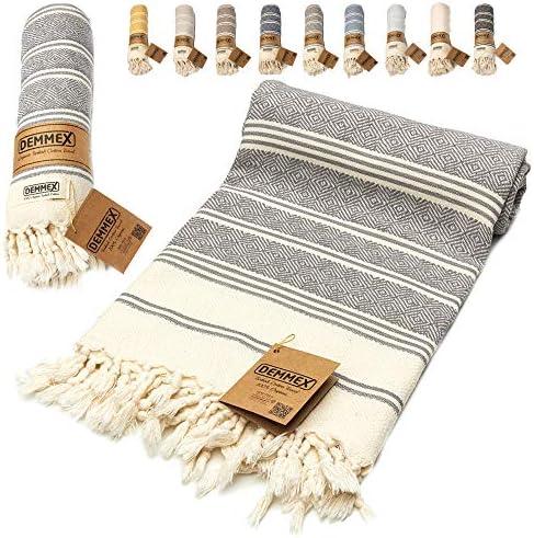 DEMMEX Certified 100 Organic Cotton Organic Dye Prewashed XL Diamond Weave Turkish Cotton Towel product image