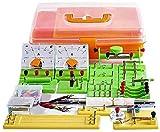 HCFSUK Juguetes de Aprendizaje - DIY Kit de Circuito eléctrico Experimento de Electricidad y magnetismo para niños Estudiantes de la Escuela Electromagnetismo Electrónica Elemental