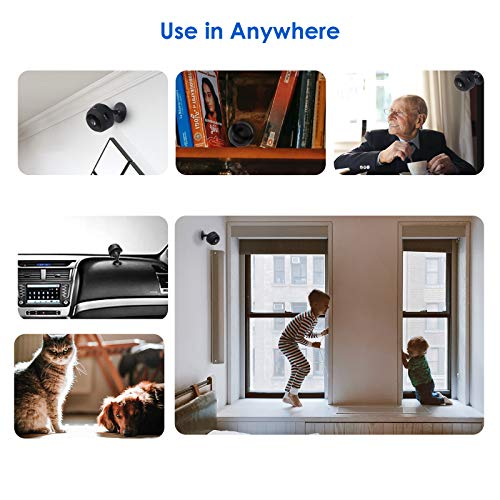 Mini Kamera, AceScreen Full HD 1080P Mini Überwachungskamera Kompakte Kleine WLAN Sicherheitskamera mit Bewegungsmelder und Infrarot Nachtsicht für Innen Aussen