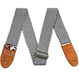 Guitar Strap Vintage Tweed 100% Cotton &...