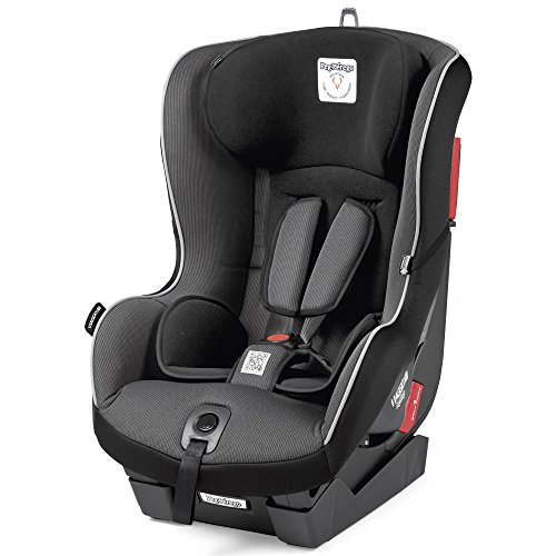 Peg Perego Seggiolino Auto Viaggio 1 Duo-Fix K, Gruppo 1 (9 a 18kg), per Bambini da 1 a 4 Anni, Nero