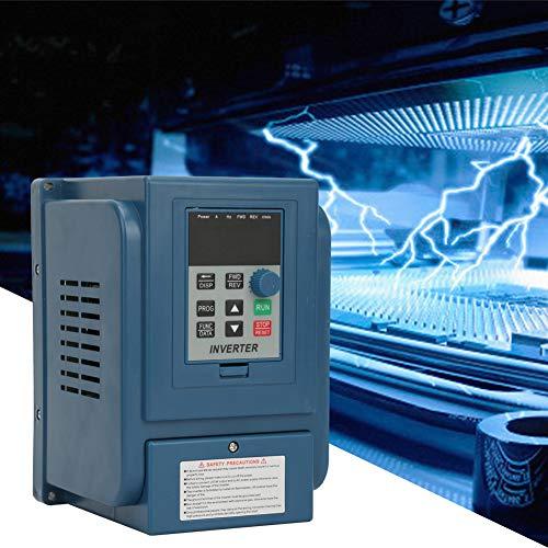 Naroote VFD Wechselrichter, 380VAC 6A Frequenzumrichter VFD Drehzahlregler für 3 Phasen Wechselstrommotoren mit 2,2 kW
