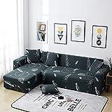 WXQY Funda de sofá con Estampado Floral Funda de sofá elástica, patrón de Diente de león Creativo Funda de sofá Envuelta herméticamente Antideslizante A5 2 plazas