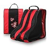 ZZXXYY Bolsa de Arranque Transpirable, Paquete de Arranque del Casco de Unisex, 3 Capas Patines Transpirables para niños (Color : Rojo)