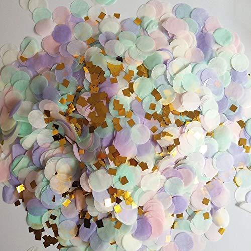 Confet,Confeti de Mezcla de Color Redondo,Accesorios de Bricolaje,Confeti para Decoración de Escritorio,Bodas,Fiestas,Decoración de Cumpleaños(Mezcla Aleatoria de Color,10 Paquetes)