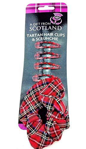 Tartan pinces à cheveux et Chouchou - Tartan Hair Clips And Scrunchie