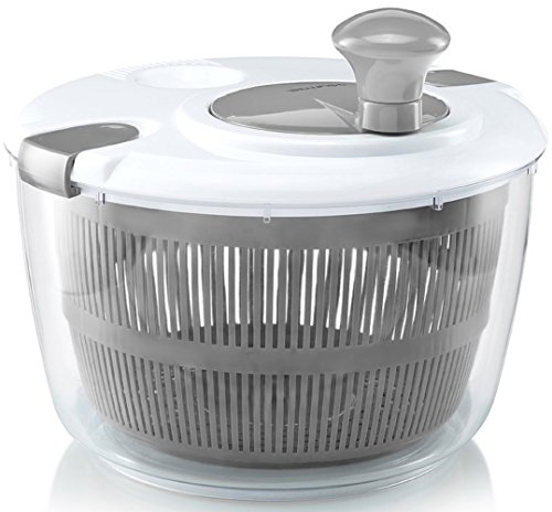 Gourmia GSA9240 Jumbo Salad Spinner - Manual Lettuce Dryer With Crank Handle & Locking Lid, BPA Free...