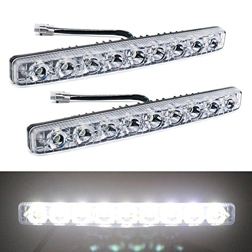 YIJINSHENG Car Universal Fit 9 LED High Power LED Daytime Running Lights DRL Kit Extreme Bright Spot Fog Lamp Xenon White Auto Accessories