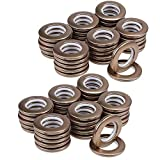 64 Pack Curtain Grommets,CENGOOD Inner Diameter 1-9/16' Silencer Sliding Ring ABS Plastic Brown