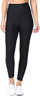 EVCR High Waisted Leggings for Women - Athletic Tummy Control Yoga Pants for Workout, Black, X-Large…