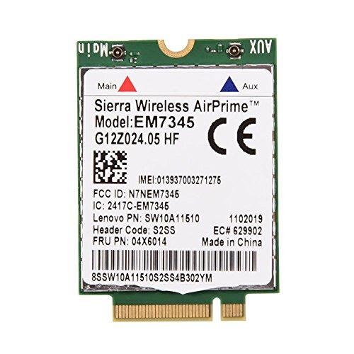 Bewinner EM7345-Modulkarte, 04X6014 4G-LTE-WWAN-Kartenmodul für Thinkpad X250, X1C, W550, T450, X240, T440, EM7345, drahtloses High-Speed-LTE-Breitband