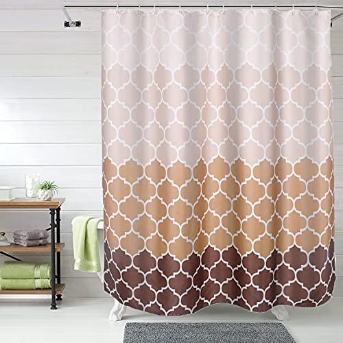 Fupah Duschvorhang-Set mit 12 Haken, 183 x 183 cm, Khaki