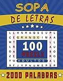 SOPA DE LETRAS: Para adultos | Letra drande | 100 Juegos- 2000 Palabras  | juegos de palabras para las vacaciones o el tiempo libre| idea del regalo