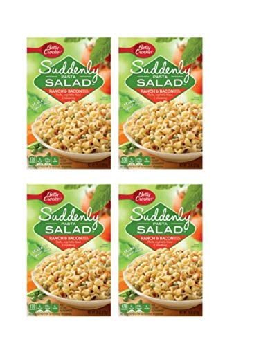 Betty Crocker Suddenly Pasta Salad Ranch and Bacon Flavor Pasta Vegetable Blend Seasoning, (Pack of 4)