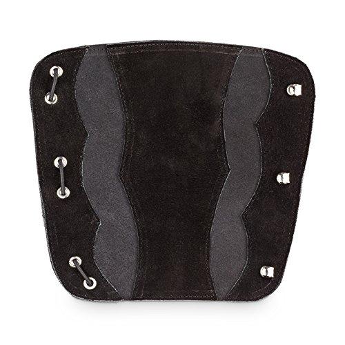 est Hunter Bogenschießen Armschutz aus Echtleder für alle Bogenschützen als Schutzausrüstung (Schwarz)