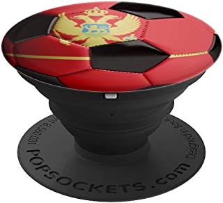 Montenegro Flag Football Soccer Ball  PopSockets Grip and Stand for Phones and Tablets