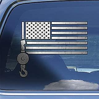 American Flag Crane Operator Decal Sticker