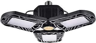 60W Deformable LED Garage Light, Motion Activated Garage Lighting, 6000LM Ceiling Light E26/E27 Factory Industrial Lighting, Cold White 6000K Light IP65 for Garage, Warehouse, Workshop (Motion)