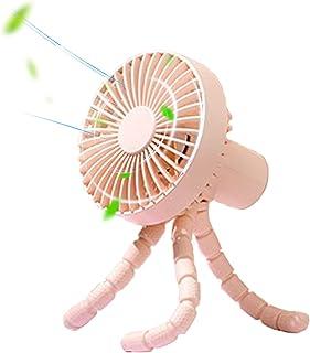 Versatile Fan, Stroller Fan, Silent Desk Fan, USB Fan, Portable Handheld Fan, 1800mAh Battery Operated, 3 speed wind power can be selected, USB Desk Fan for Car/Stroller/Bike/Camping/BBQ/Gym