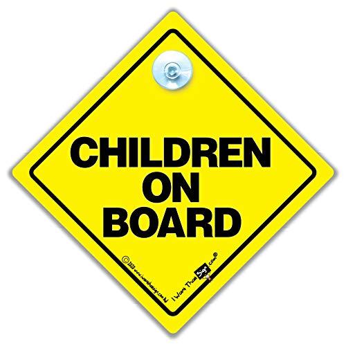 ENFANTS SIGNE voiture, Panneau Bébéà bord, à bord , jaune, àà de NEUF autocollant, signe, ENSEIGNE voiture