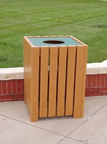 Purchase Jayhawk Plastics Heavy-Duty Square 55 Gallon Trash Receptacle Made With Twenty-Four 2 X 4...