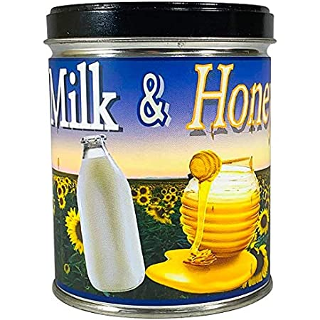 Amazon Com Our Own Candle Company Milk Honey Scented Candle In 13 Ounce Tin Furniture Decor