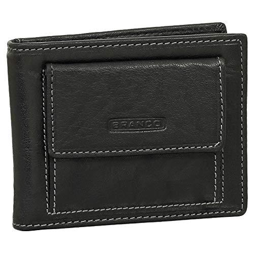 Leder Dollarclip Geldbörse mit Münzfach Geldbeutel Portemonnaie Farbe Schwarz