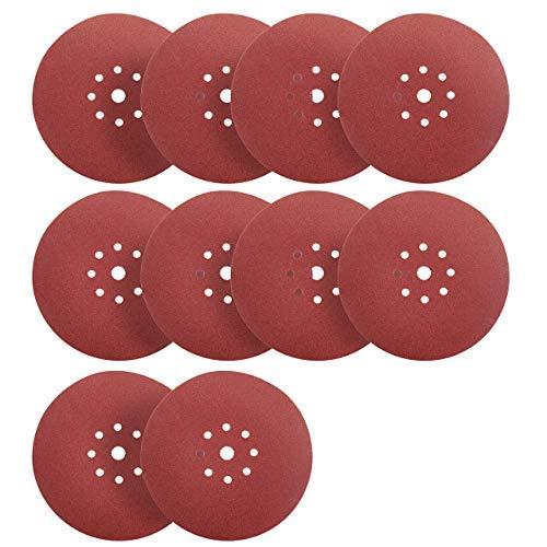 S&R 10 Discos de Lija en Papel Abrasivo con Velcro Ø 225 mm / Grano 150