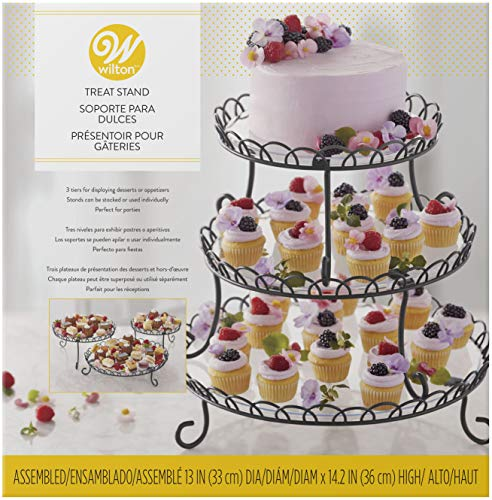 Wilton 3-Tier Customizable Scalloped Dessert and Cake Stand