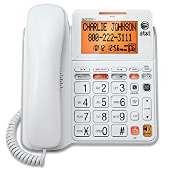 professional AT  T CL4940 Answering Machine and Standard Cable Phone with Backlit Display, White
