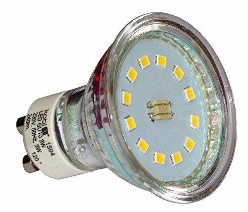 5 Stück LED-Reflektorlampe LED-Lampe 3W GU10 Kaltweiss Set Strahler Spot Lampe Leuchte 5-Pack Kobi