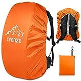 Regenschutz für Rucksäcke, Crenze 15-90L Wasserdichter Regenhülle Rucksack Cover für Wandern, Camping, Radfahren, Reisen und Schulranzen