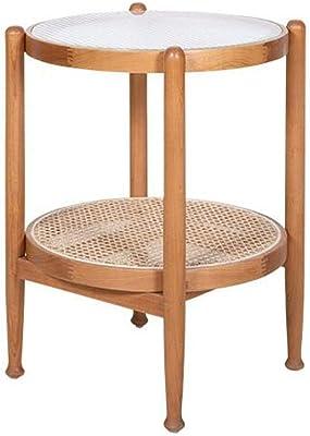 JCCOZ-URG Multifunctional Rattan Coffee Table, Tatami Coffee Table, Movable Snack Table, Portable Furniture, Suitable for Living Room Bedroom JCCOZ-URG