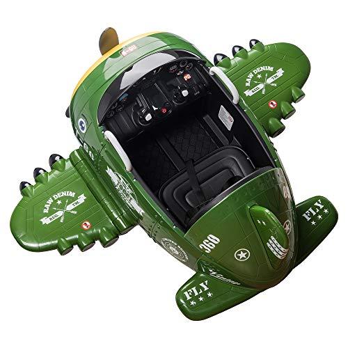 TOBBI 12V Airplane Electric Kids Ride on Toy w/ 2 Joysticks Control,...