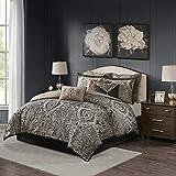 Madison Park Signature Grandover Jacquard Comforter Set, Queen, Taupe