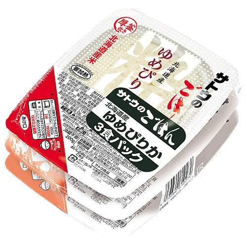 サトウ食品 サトウのごはん 北海道産ゆめぴりか 3食パック 200g×3食×12個入×(2ケース)