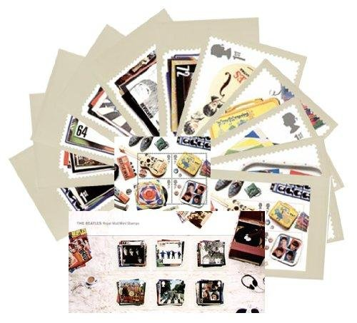 Set regalo di 2007 Beatles confezione comprende Miniature Sheet di menta &-Set di 11 francobolli Royal Mail PHQ Cards