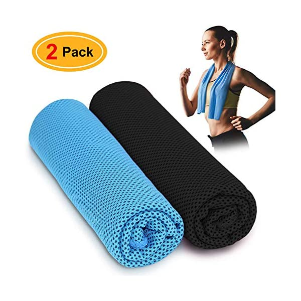 EXQ Home Neck Cooling Towel,Quick Dry Sports Cool Chilly Microfiber Instant Towel for Golf,Yoga, Running,Camping,Cycling,Workout & Outdoor Activities