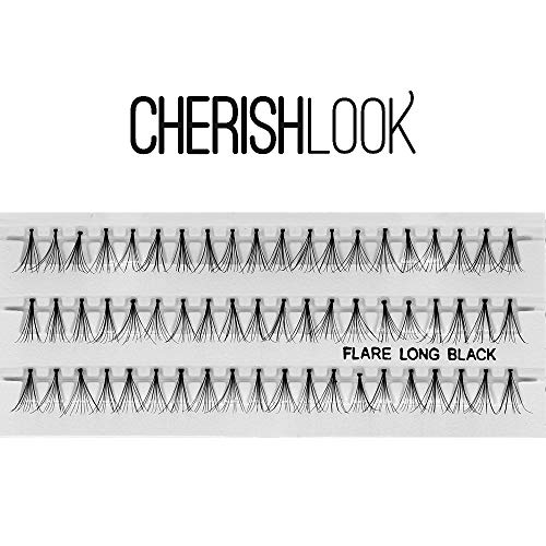 Cherishlook Professional 10packs Eyelashes - Flare Long Black by Cherishlook