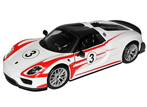 Bburago Porsche 918 Spyder Weiss Martini Weissach Package Serienstand 1/24 Modell Auto